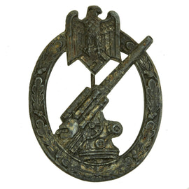 Original German WWII Heer Army Anti-Aircraft Flak Battle Badge by Lind & Meyer - Solid Back