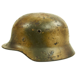 Original German WWII Named Normandy Camouflage M40 Helmet with 57cm Liner - Q64