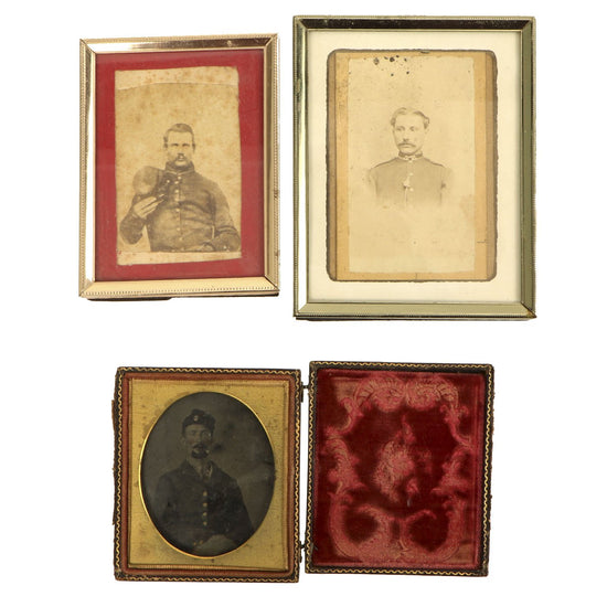 Original U.S. Civil War Federal Solider Tintype Photograph Collection - Set of Three Original Items