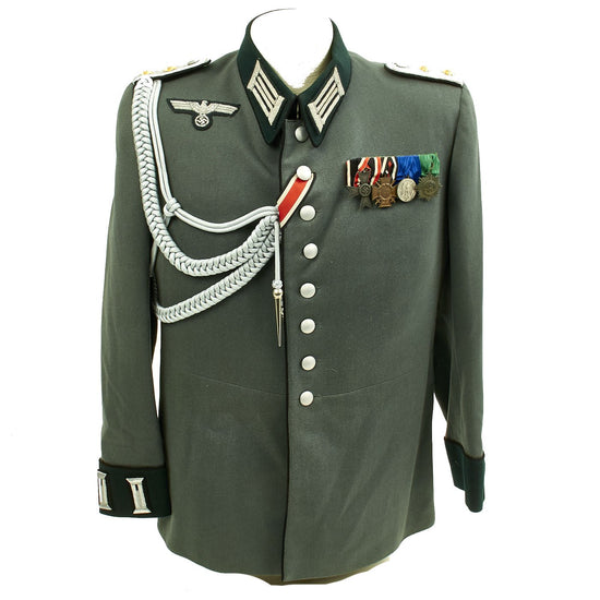 RARE WW2 GERMAN OFFICER PIONEER DRESS UNIFORM WITH MEDAL BAR Original Items