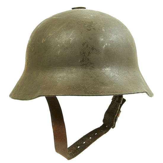 "Original Rare Austro-Hungarian WWI M17 ""Berndorfer"" Steel Helmet with Liner - Marked ""Bear"" 66 Original Items"