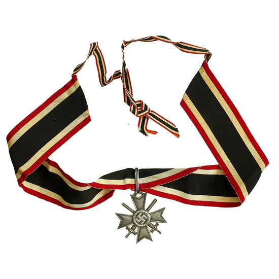 Original German WWII Knight's Cross of the War Merit Cross by Deschler & Sohn with Ribbon - KvK Original Items