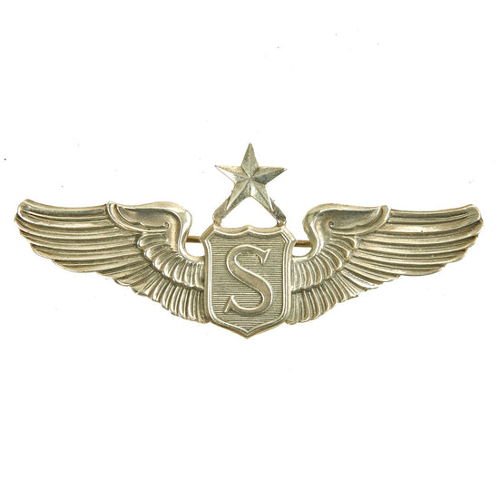 Original U.S. WWII Army Air Forces USAAF Senior Service Pilot Wings by Meyer - Sterling Silver Original Items