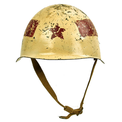 Original Cold War 1948 Russian Soviet SSh-39 Steel Combat Helmet - Converted to Traffic Police in 1969 Original Items