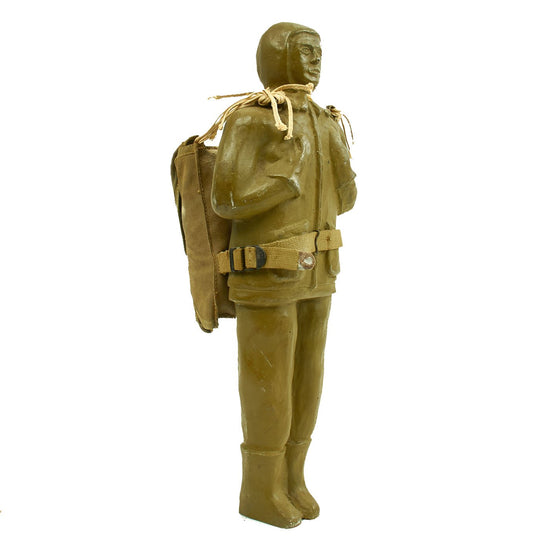 Original U.S. WWII Oscar Experimental 1943 Paradummy Paratrooper Decoy Doll with Chute and Pack Original Items