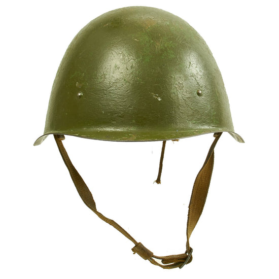 Original WWII Russian Soviet SSh-40 Steel Combat Helmet with Paint Stamp Markings Original Items