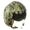 show larger image of product view 1 : Original U.S. 1980s Camouflage HGU-26/P Flight Helmet with Dual Visor Original Items