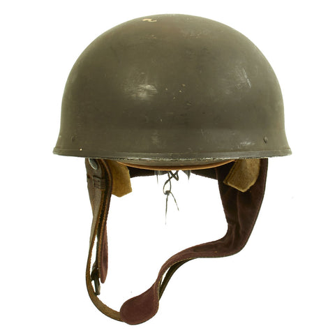 Original WWII British MkI Dispatch Rider Helmet by Canadian Motor Lamp Co. dated 1944 - Size 7 1/4 Original Items