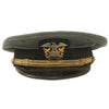 "show larger image of product view 1 : Original U.S. WWII Naval Officer Gray ""The Commodore"" Combination Visor Cap - size 7 Original Items"