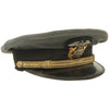 "show larger image of product view 2 : Original U.S. WWII Naval Officer Gray ""The Commodore"" Combination Visor Cap - size 7 Original Items"