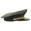 "show larger image of product view 6 : Original U.S. WWII Naval Officer Gray ""The Commodore"" Combination Visor Cap - size 7 Original Items"
