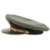 "show larger image of product view 8 : Original U.S. WWII Naval Officer Gray ""The Commodore"" Combination Visor Cap - size 7 Original Items"