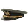 "show larger image of product view 9 : Original U.S. WWII Naval Officer Gray ""The Commodore"" Combination Visor Cap - size 7 Original Items"