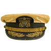 show larger image of product view 1 : Original U.S. WWII Naval Command Officer White Combination Visor Cap by Waldemar C. Pinto & Co. Ltd. Original Items