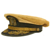 show larger image of product view 8 : Original U.S. WWII Naval Command Officer White Combination Visor Cap by Waldemar C. Pinto & Co. Ltd. Original Items