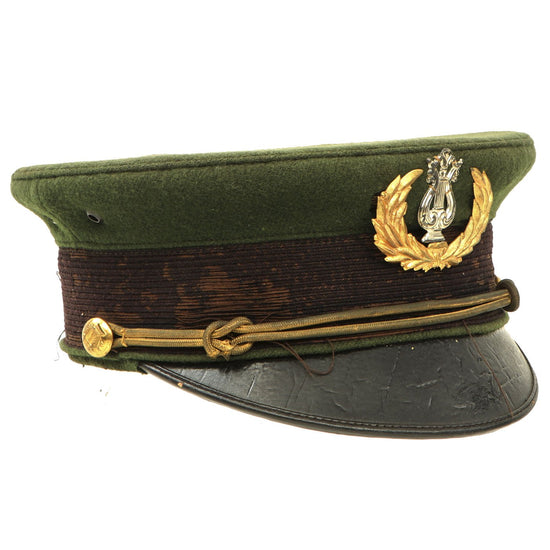 Original U.S. Spanish American Army Officer Musician M1902 Visor Cap by Cincinnati Regalia Company Original Items