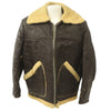 show larger image of product view 1 : Original U.S. WWII Army Air Force B-3 Style Sheepskin Bomber Jacket - Size 38 Original Items