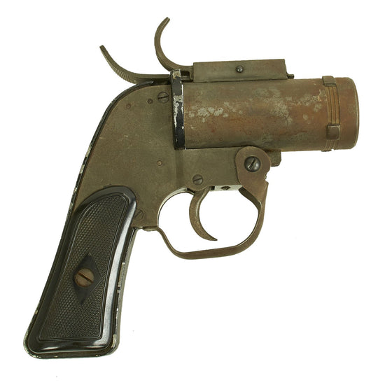 Original U.S. WWII M8 Pyrotechnic 37mm Flare Signal Pistol by MSWC - Serial 261189 Original Items