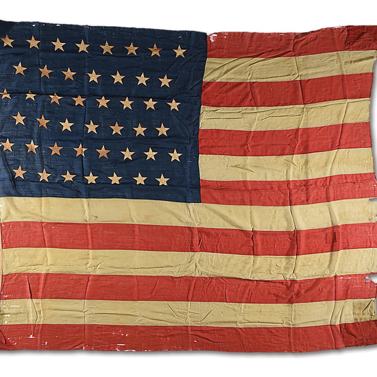 "Original U.S. Early 20th Century 45 Star National Flag - 96"" x 117"" Original Items"