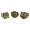 show larger image of product view 1 : Original U.S. WWII Pacific Theater Souvenir Ring Set - USN, 1944 Philippines, 1942 Initials Original Items