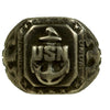 show larger image of product view 2 : Original U.S. WWII Pacific Theater Souvenir Ring Set - USN, 1944 Philippines, 1942 Initials Original Items