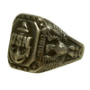 show larger image of product view 7 : Original U.S. WWII Pacific Theater Souvenir Ring Set - USN, 1944 Philippines, 1942 Initials Original Items