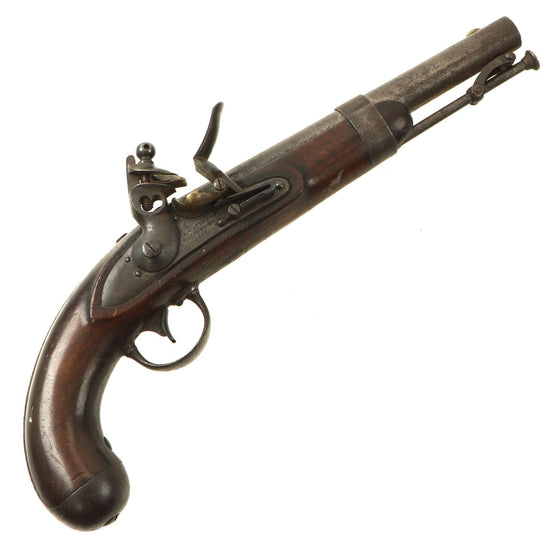 Original U.S. Model 1836 Flintlock Cavalry Pistol by Asa Waters of Milbury Massachusetts - dated 1837 Original Items