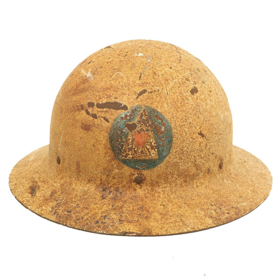 Original U.S. WWII Office of Civilian Defense Air Raid Warden Helmet Original Items