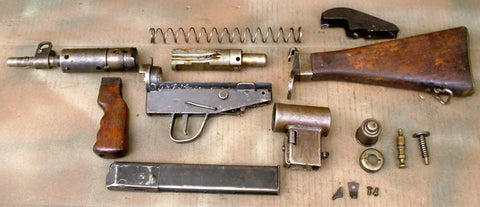 British Sten MK 5 Parts Set: WW2