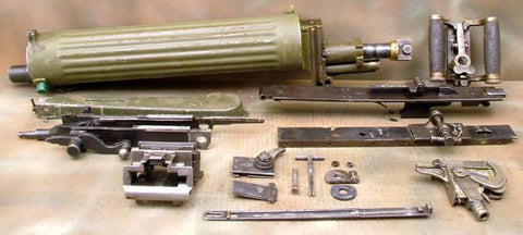 Maxim M-1910 Machine Gun Parts Set with Sokolov Mount: Russian Fluted