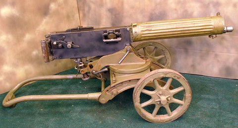 Russian Maxim M-1910 Fluted Display Machine Gun with Sokolov Mount