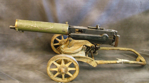 Maxim Imperial Russian M-1905/10 Smooth Jacket Display Machine Gun with Brass Sokolv Mount