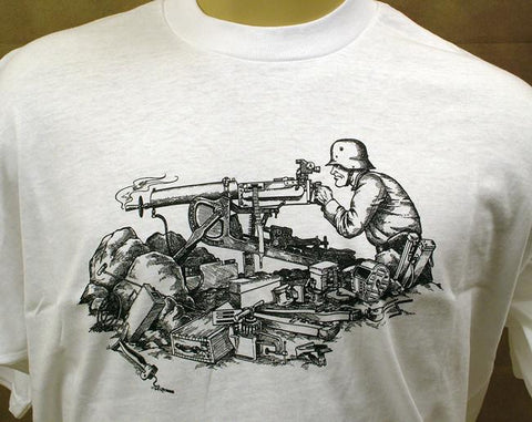 IMA Tee Shirt: German WWI Maxim
