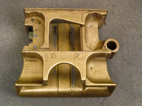 Vickers Feed Block Body, All Brass, Stripped