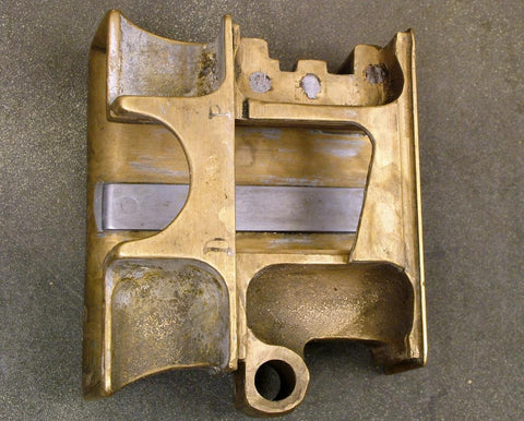 British Vickers MMG Feed Block Body: Stripped (Brass/Steel)