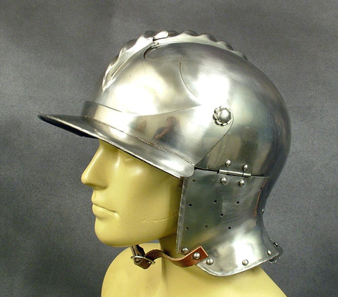 French Bascinet Helmet Circa 1580: Quality Reproduction New Made Items
