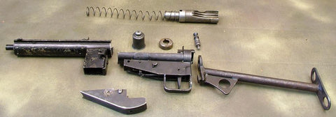 Original British WWII Sten Mark III Parts Set