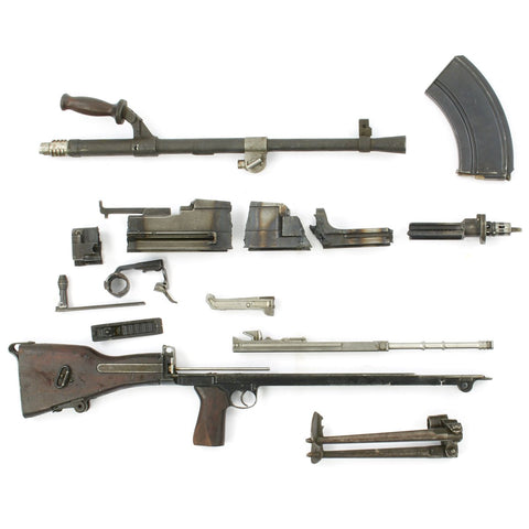 Original British WWII Bren .303cal MkI MkII Parts Set with Demilled Receiver Original Items