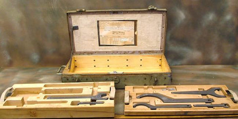 German Flak 30 Tool Chest & Tools: Rare WWII Issue Original Items