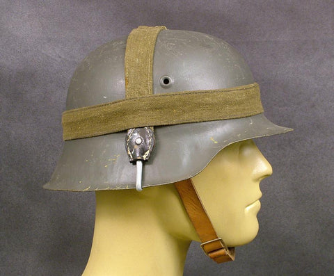 German WWII M35, M40, M42 Helmet Band (Utility Strap): Wehrmacht Green/Khaki Original Items