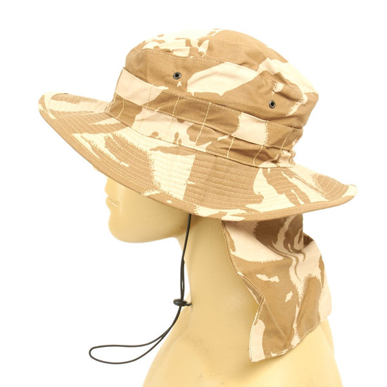 Original British Military Iraq War Desert Booney Hat with Neck Protector