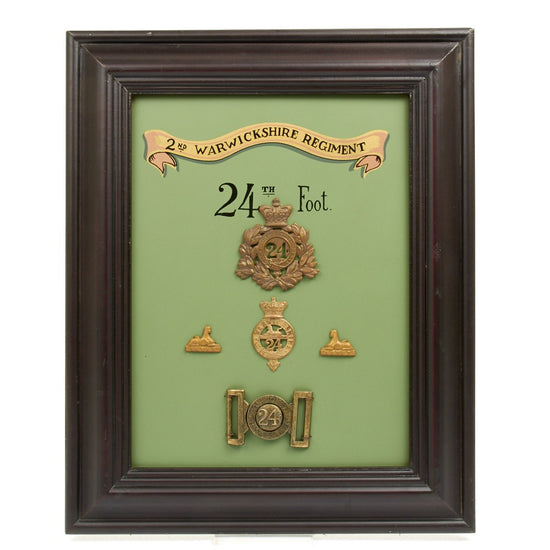 British Zulu War 2nd Warwickshire 24th Regiment of Foot Display Board