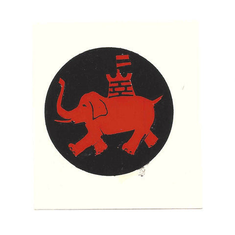 British WWII Unit Helmet Decal: Ninth Army