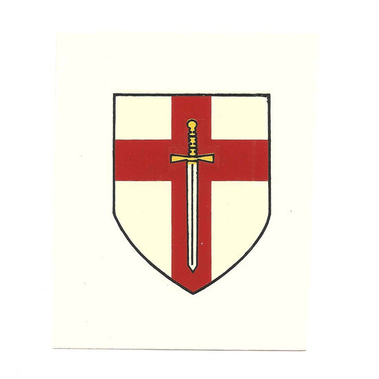 British WWII Unit Helmet Decal: British 1st Army New Made Items