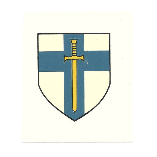 British WWII Unit Helmet Decal: British 2nd Army New Made Items