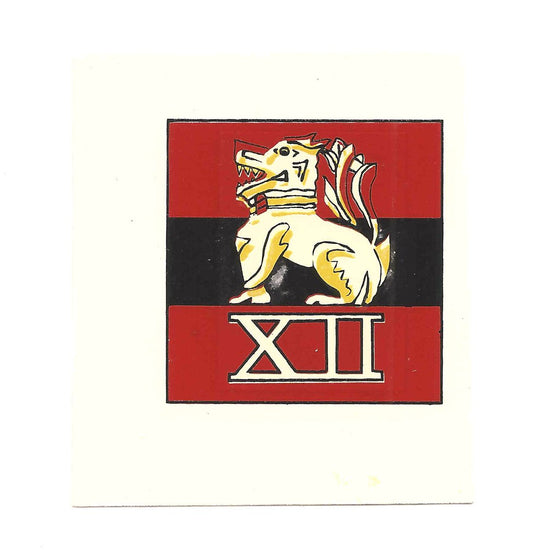 British WWII Unit Helmet Decal: 12th Army New Made Items
