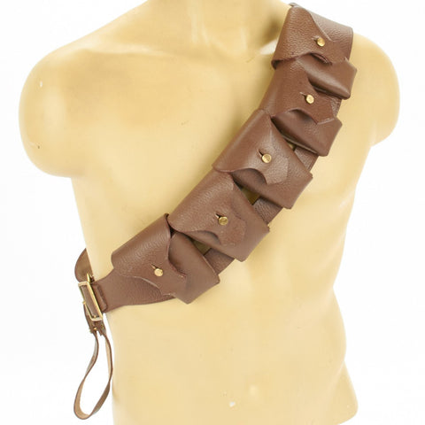 British P-1903 Leather Five Pocket Bandolier, P1903, Pattern 1903 New Made Items