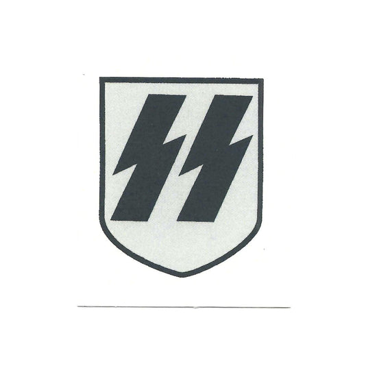 German WWII Steel Helmet Decal- Early War SS Runic Shield