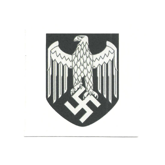 German WWII Steel Helmet Decal- Wehrmacht Heer Silver Eagle (Army)