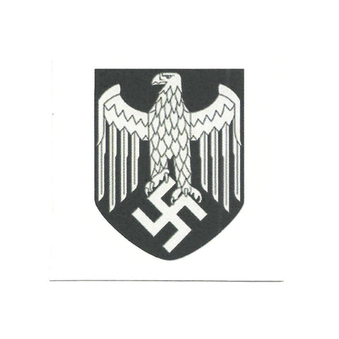 German WWII Steel Helmet Decal- Wehrmacht Heer Silver Eagle (Army) New Made Items
